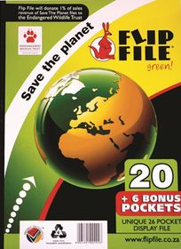 Flip File A4 Save the Planet Display File - 26 Pocket