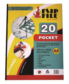 Flip File A3 Display File - 20 Pocket