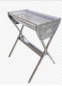 Megamaster - 700Barrel Freestanding Braai - Stainless Steel - Silver