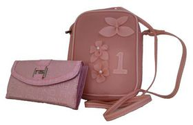 Fino Jelly Casual Sling Bag Value Set SK1019/JLY+F310 - Pink
