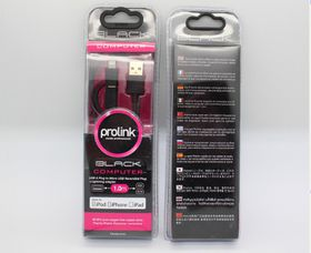 Prolink USB A Male to B Micro Reversible + MFI Lightning Cable