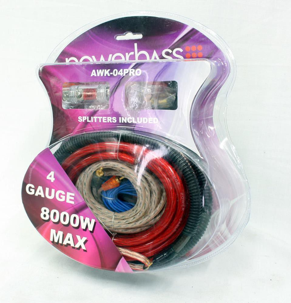 4 Gauge Wiring Kit South Africa Solutions Audio Powerbass Car Awk 04 In