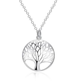 Unexpected Box Tree of Life Necklace - Silver