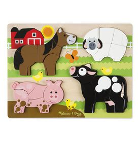 Melissa Doug Stacking Chunky Wooden Puzzle Bears Buy Online In