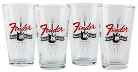 Fender Strat Burst Pint Glasses