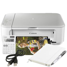 Canon PIXMA MG3640 A4 3-in1 Wi-Fi Inkjet Printer White Bundle