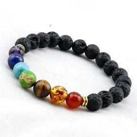 Crystal Rock7 Chakra Healing Reiki bracelet in Multi