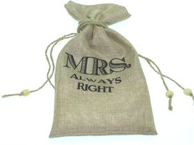 Hessian Chic Bag 6174