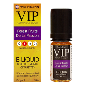 VIP E-Cigarettes 10ml Forest Fruit De La Passion - 8mg