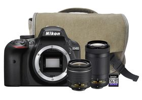 Nikon D3400 24.2MP DSLR Twin Lens Value Bundle 300mm DX