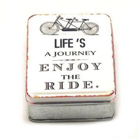 Pamper Hamper - Life's A Journey Metal Tin - White