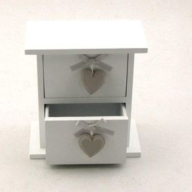 Pamper Hamper - White Cabinet - 2 Drawers - White