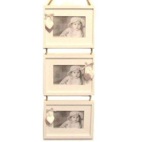 Pamper Hamper - Photo Frame Triple Ladder - White