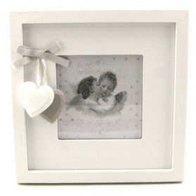 Pamper Hamper - Single Square Photo Frame - White