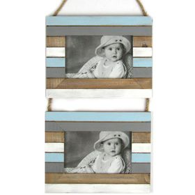 Pamper Hamper - Slat Effect Photo Frame Ladder - Grey
