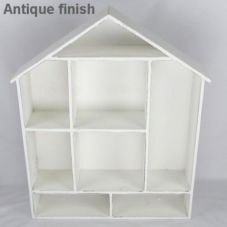 Pamper Hamper Wooden House Shaped Wall Shelf White