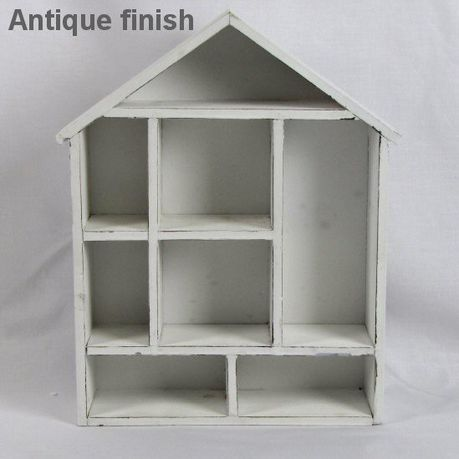 Pamper Hamper Wooden House Shaped Display Wall Shelf White