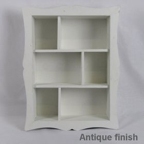 Pamper Hamper - Wooden Wall Display Cabinet - White