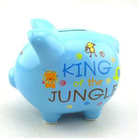 Pamper Hamper - King Of The Jungle Piggy Bank - Blue