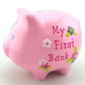 Pamper Hamper - Pink My First Piggy Bank - Pink
