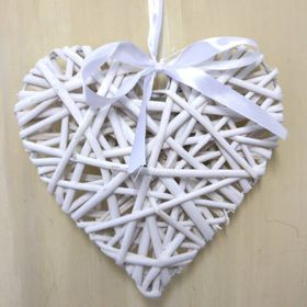 Pamper Hamper - Medium Wicker Heart - White