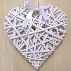 Pamper Hamper - Large Wicker Heart - White