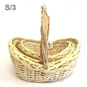 Pamper Hamper - Basket With Handles Set Of 3 - Cream