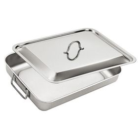 Eat Italy - Stainless Steel Lasagne Dish With Lid - 40 x 32cm
