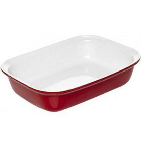 Pyrex - Impressions - Red Rectangular Roaster - 33 x 24cm