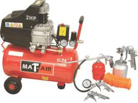 Compressor MATAIR Kit 2hp 24l +5pc S|gun