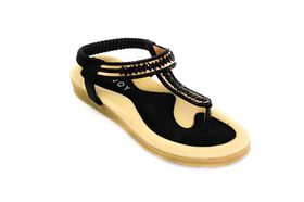 Savoy Ladies T Ladies Bar Sandal in Black