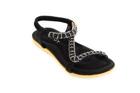 Savoy Ladies Z Glitz Sandal in Black