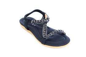Savoy Ladies Z Glitz Sandal in Navy