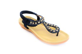 Savoy Ladies Glitz Thong Sandal in Navy
