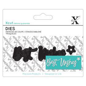 Xcut Mini Dies Sentiment - Best Wishes