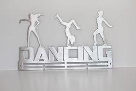 TrendyShop DC Dancing 3-Figure Medal Hanger - Stainless Steel