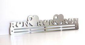 TrendyShop DC RunRunRun Heart Medal Hanger - Stainless Steel