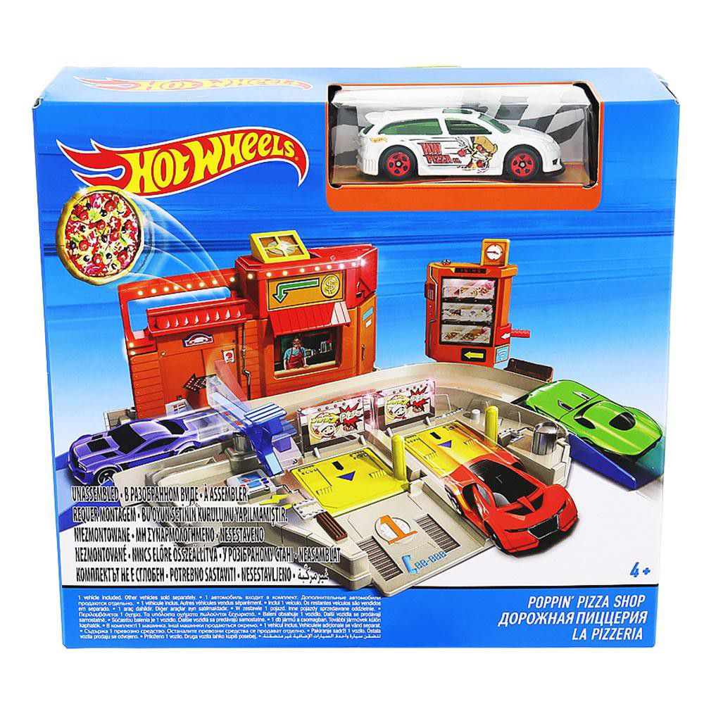 hot wheels city playset poppin 39 pizza shop buy online. Black Bedroom Furniture Sets. Home Design Ideas