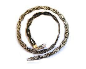 Genuine 45cm 925 Sterling Silver Black Rhodium Magic Design Snake Style Chain