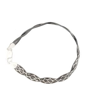 Genuine 19cm 925 Sterling Silver Black Rhodium Magic Design Snake Style Bracelet