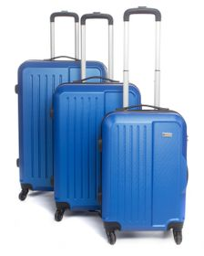 Medoodi Paris ABS 3 Piece Luggage Set - Navy