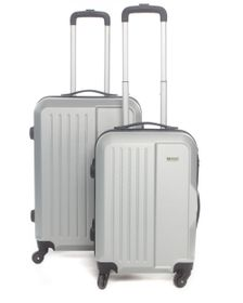 Medoodi Paris ABS 2 Piece Luggage Set - Silver