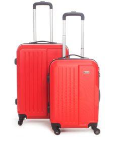 Medoodi Paris ABS 2 Piece Luggage Set - Red