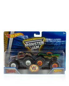 Hot Wheels Monster Jam Demolition Double Pack - Zombie vs. Dragon