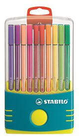 Stabilo Pen 68 1.0mm Fibre Tip Pens ColorParade (Turquoise Plastic Box of 20)