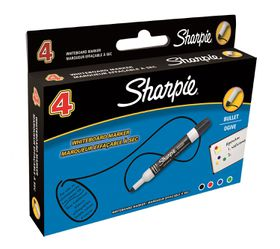 Sharpie Whiteboard Markers Bullet Tip - Assorted (Box of 4)