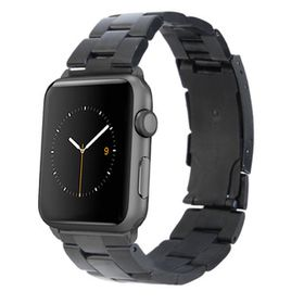 38mm Apple Watch Strap by Zonabel - Black Stainless Steel