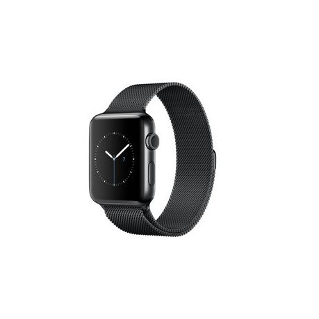 74214f35a77 38mm Apple Watch Strap by Zonabel - Milanese Loop - Black Steel ...
