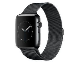 38mm Apple Watch Strap by Zonabel - Milanese Loop - Black Steel