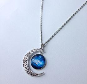 Lakota Inspirations Blue Starry Galaxy Necklace
